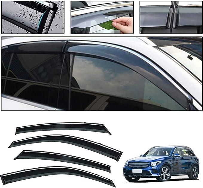 Saitake Windabweiser Für Mercedes Benz Glc Class X205 2015 2016 4pcs Autofenster Visier Sonne Regen Rauchabzug Schatten Klebeband Außenvisiere Auto