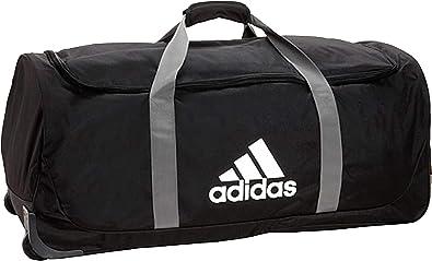 Jarra comportarse Alienación  Amazon.com: adidas XL Team. Bolsa con ruedas., negro, talla única: Clothing