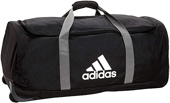 Amazon.com: adidas XL Team. Bolsa con ruedas., negro, talla ...