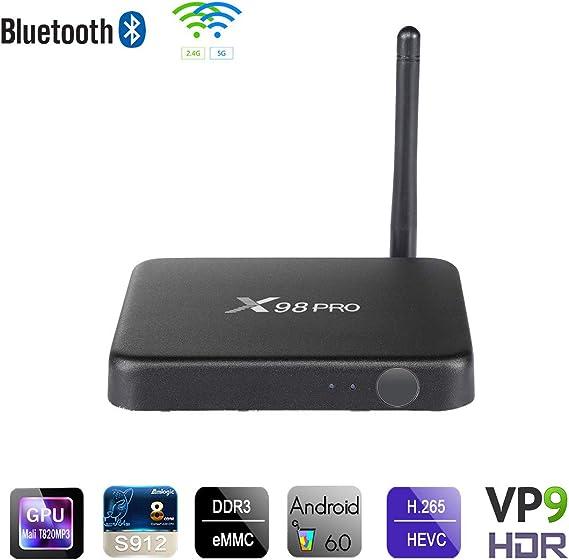 Mini Android TV Box, TV Box Android 7.1 / Smart TV Box con Chipset Amlogic S912 De Cuatro Núcleos, Reproductor Multimedia De 64 GB con 3 GB / 32 GB, WiFi 2.4