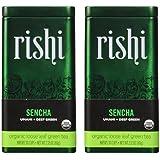 Rishi Tea, Organic Green Tea Sencha, 2.11-Ounce Tin (Pack of 2)