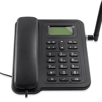 Amazon.com: GSM Teléfono fijo teléfono de computadora para ...