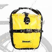 Rhinowalk 20 liter fietstas, waterdichte bagagedragertas, zijvakken, roltop, fietstas, achterwieltas