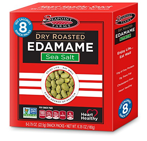 Seapoint Farms Dry Roasted Edamame, Light Salted, 0.79 Oz, 8 Count by Seapoint Farms