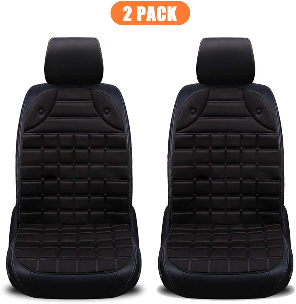 Black 12V Heated Seat Cushion Universal Car Seat Heater with Intelligent Temperature Controller .
