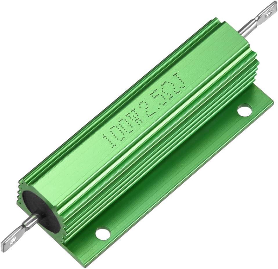 Sourcingmap Aluminium Fall Widerstand 100/W 2,5/Ohm Wirewound gr/ün f/ür LED Ersatz Konverter 100/W 2.5rj