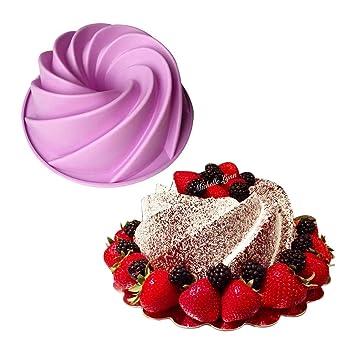 Cake molde Bakeware molde de alimentos Cake Pan forma de remolino silicona Cake Mould Cocina herramientas de horneado para pasteles: Amazon.es: Hogar