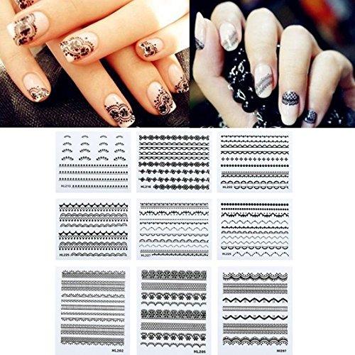 10pcs Nail Art Sticker Decal 3D Design Manicure Tips Lace Decoration - Dulce Gabbana And