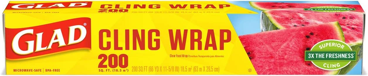 Glad Cling Wrap 200 sq ft