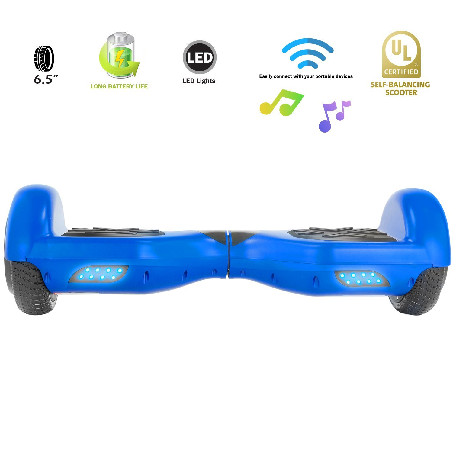 XPRIT Easter Sale Hoverboard w/Bluetooth Speaker (Blue) by XPRIT (Image #4)