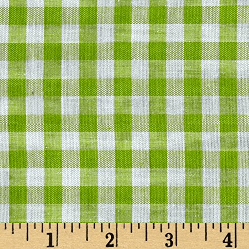 Richland Textiles Richcheck 60in Gingham Check 1/4in Lime Fabric By The Yard