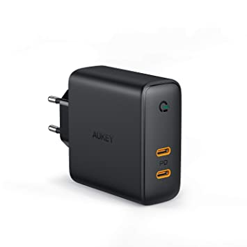 "AUKEY Cargador USB C 60W, Cargador Móvil con 60W Power Delivery, Compatible con 13"" MacBook Pro, iPhone XS/XS MAX/XR, Pixel 3 / 3XL, Nintendo Switch y ..."