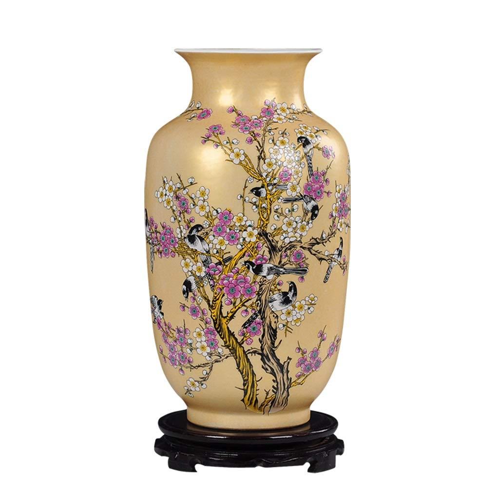 セラミック花瓶装飾梅の花現代家の装飾リビングルームのホームクラフトオフィスの装飾ギフト B07SK1RBCM