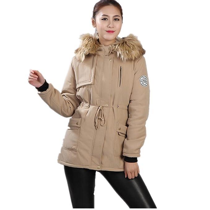BOMOVO Abrigo chaquetón de paño con capucha para mujer: Amazon.es: Ropa y accesorios