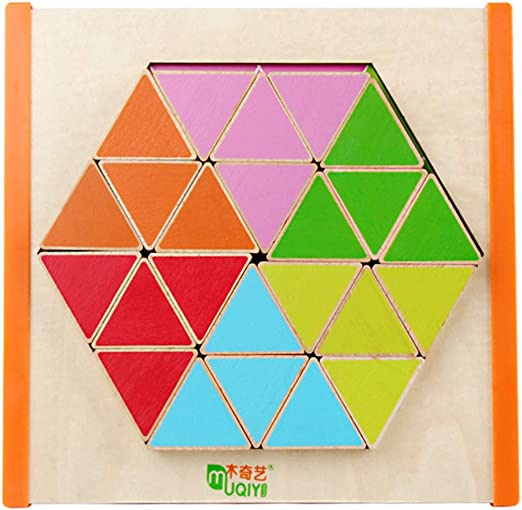 Jigsaw - Juego de mesa infantil de madera hexagonal, diseño de ...