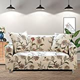 kitchen 67 coupons Lamberia Printed Sofa Cover Stretch Couch Cover Sofa Slipcovers for 3 Cushion Couch with One Pillow Case (3 Seater, New Blooming Flower)