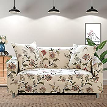 Fabulous Lamberia Printed Sofa Cover Stretch Couch Cover Sofa Slipcovers For Couches And Loveseats With One Free Pillow Case Blooming Flower Loveseat Machost Co Dining Chair Design Ideas Machostcouk