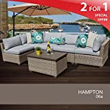 Hampton 6 Piece Outdoor Wicker Patio Furniture Set 06a