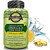 NATURELO Premium Omega-3 Fish Oil - 1100 mg Triglyceride Omega 3 - High Strength Burpless DHA EPA Supplement - Best for Brain Heart Joint Health - 60 Softgels | 2 Month Supply