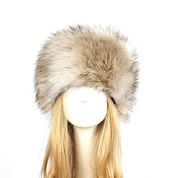 1e3624d7deb Cadiyo Men s Russian Cossack Faux Fur Hat for Winter (A)  Amazon.co ...