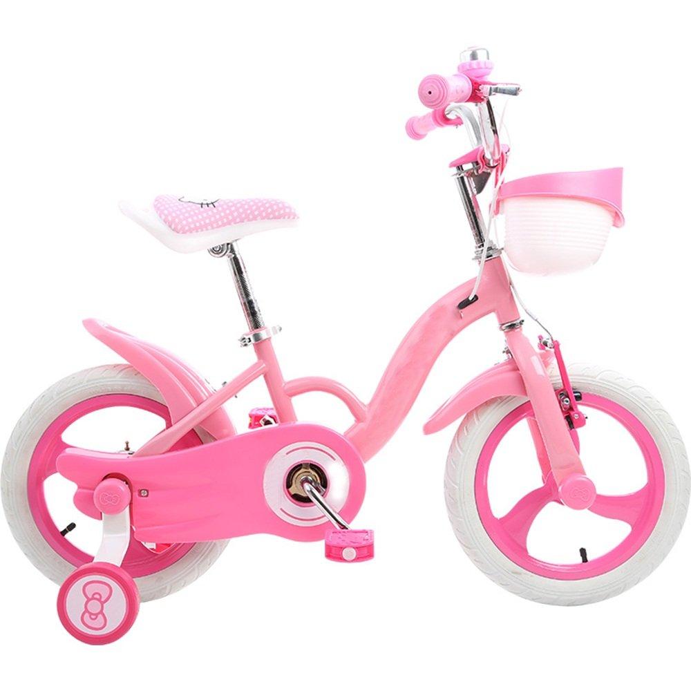 YANFEI 子ども用自転車 子供の自転車の女の子12/14/16インチ2歳の女の子の子供の乳母車の自転車へ 子供用ギフト B07DZFK72J 12インチ|ピンク ぴんく ピンク ぴんく 12インチ
