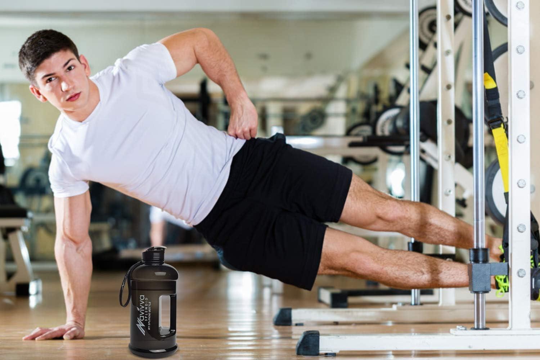 Agua Bid/ón Water Jug Gym Water Bottle 2L Botella sin BPA 2.2L Gym Bottle Botella Agua Tritan NAVIVVA SPLENDID Botella de Agua 2,2L