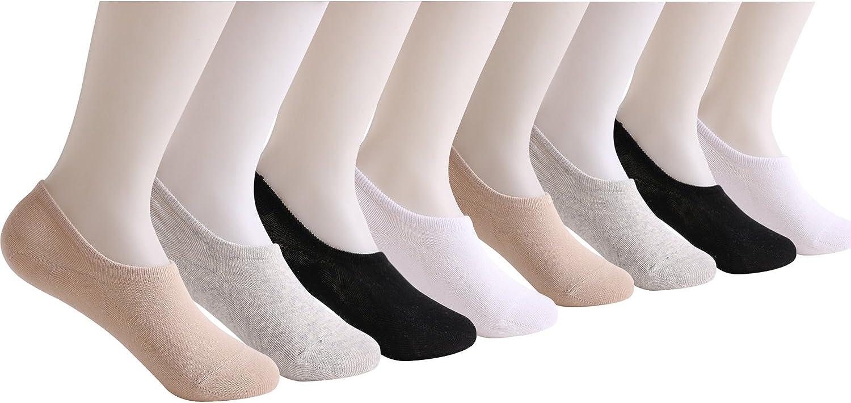 8//3 Pairs No Show Socks Women Non Slip Ultra Low Cut Casual Socks Womens No Show /& Liner Socks with 3 Non Slip Grip