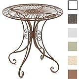 CLP Eisentisch HARI in nostalgischem Design   Robuster Gartentisch mit kunstvollen Verzierungen   In verschiedenen Farben erhältlich Antik Braun