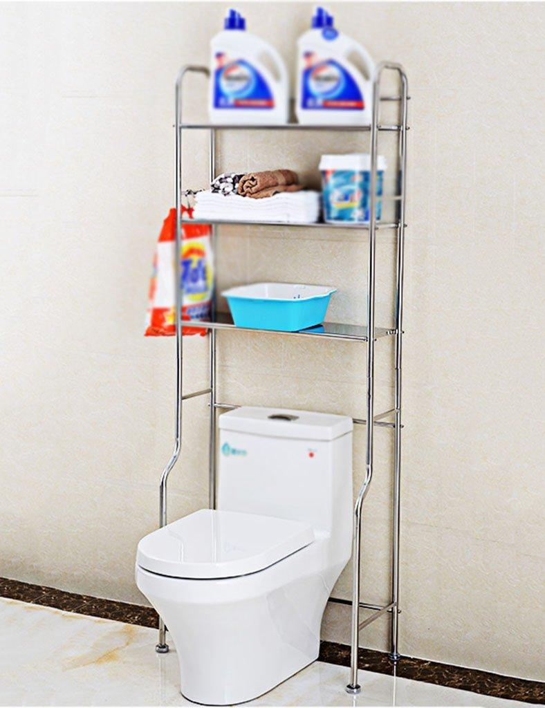 DEE Shelf-Hwf Bathroom Shelves Shelf Toilet Estantes Baño Toilet Acabado Rack Floor Storage Rack,Tres Capas