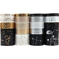 Dizdkizd 20 Rolls Washi Tape Set, Universe Design Masking Tapes with 3 Sizes 8mm/15mm/30mm, Hot Stamping Decorative…