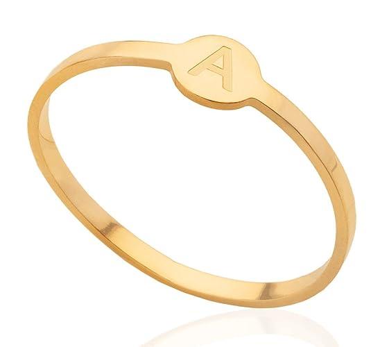 f034d861ab8a9 Amazon.com: Initial monogram custom ring, 925 Sterling Silver ...