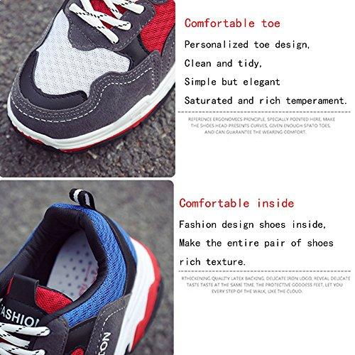de GAOLIXIA primavera al libre deportivos Rojo aire para de para mujer Zapatos Black Casual con tacón deporte cordones cordones alto Negro blanco Zapatos con cuero Zapatos de deportivos wIRW7F