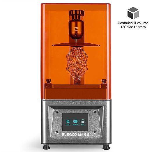 33 opinioni per ELEGOO Stampante 3D LCD per Fotopolimerizzante MARS UV con Schermo a Colori