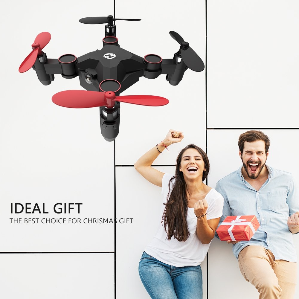 Holy Stone HS190 Foldable Mini Nano RC Drone for Kids Gift Portable Pocket Quadcopter with Altitude Hold 3D Flips and Headless Mode Easy to Fly for Beginners by Holy Stone (Image #1)