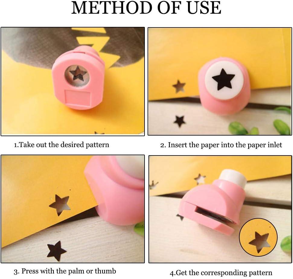 10pcs Pegatina De Lentejuelas De Purpurina Adhesiva con diferentes patrones para tarjeta de Scrapbooking DIY Decoraci/ón /Álbum LINVINC 5pcs Mini Paper Punch