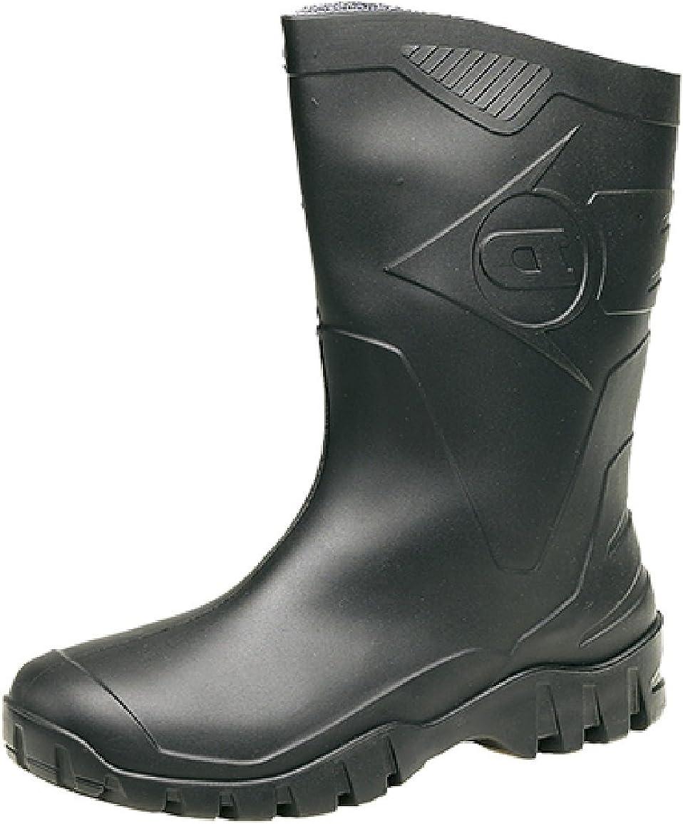 Dunlop - Botas de agua para hombre, negro, 6 UK / 39 EU