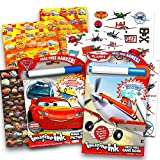 Disney Cars and Planes No Mess Coloring and Activity Super Set for Toddlers and Kids. 2 Mess Free Imagine Ink Coloring Books with Magic Marker, 50 Disney Planes Temporary Tattoos and Over 500 Disney Cars Stickers. Includes one Disney Pixar Cars 3 mag...