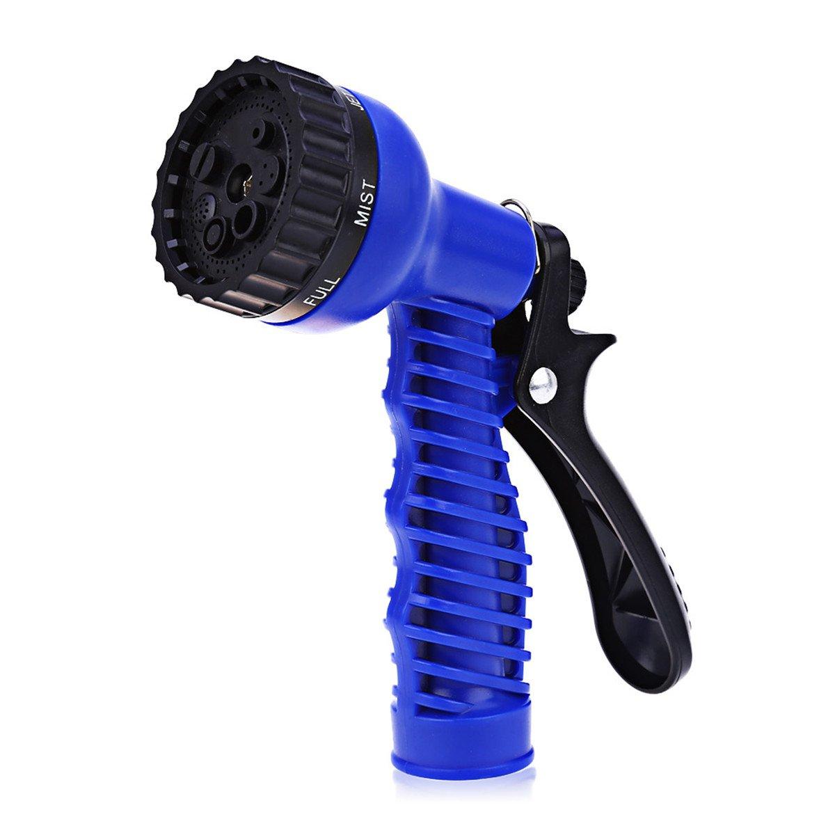 Heavy Duty Garden Hose Nozzle Sprayer High Pressure,7 Adjustable Watering Patterns Watering Nozzle Hose Spray Gun for Car Wash Cleaning Lawn Garden Watering
