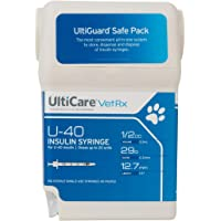 "UltiCare VetRx U-40 UltiGuard Safe Pack Pet Insulin Syringes (1/2cc, 29G x 1/2"", 100ct)"