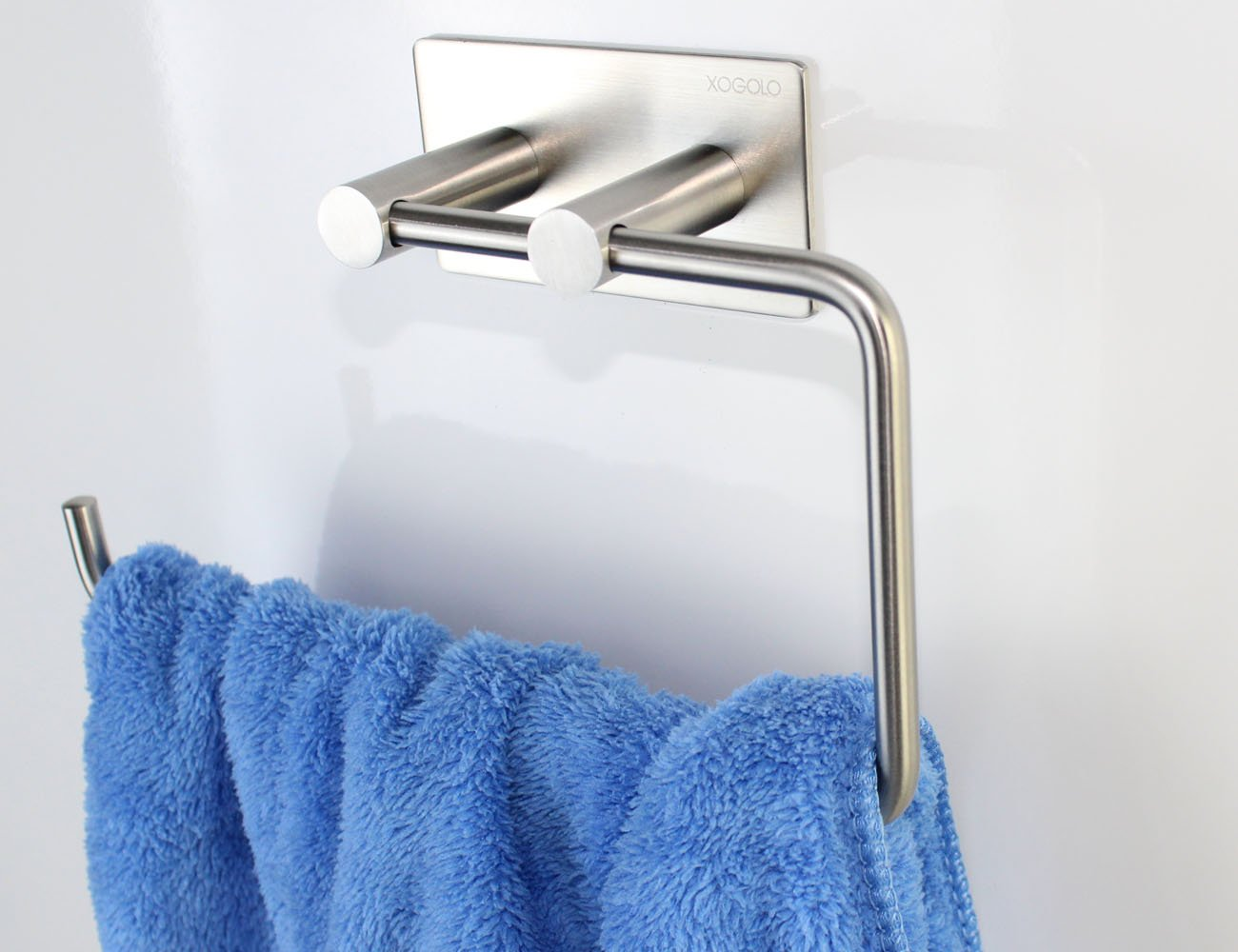 Xogolo Bathroom Lavatory Towel Holder, 3M Self Adhesive Towel Ring, SUS304 Stainless Steel Wall Mount, Brushed Finished