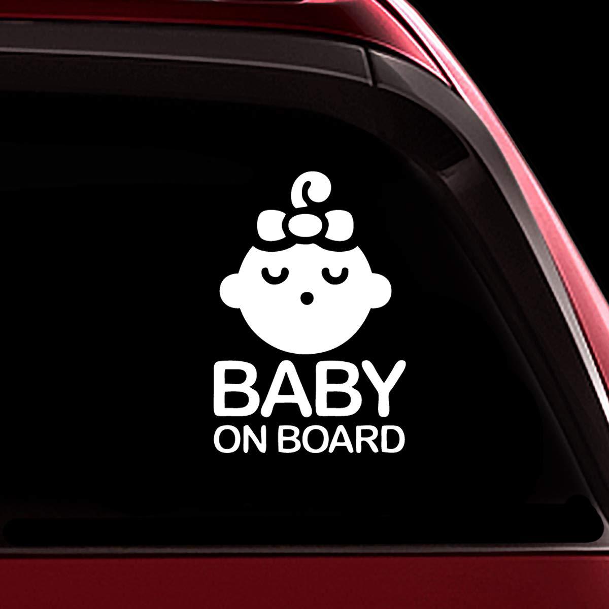 TOTOMO # ALI-001 Baby an Bord Aufkleber Aufkleber Sicherheit Vorsicht Zeichen für Autofenster - Carlos aus dem Hangover lustige Aufkleber Autoaufkleber