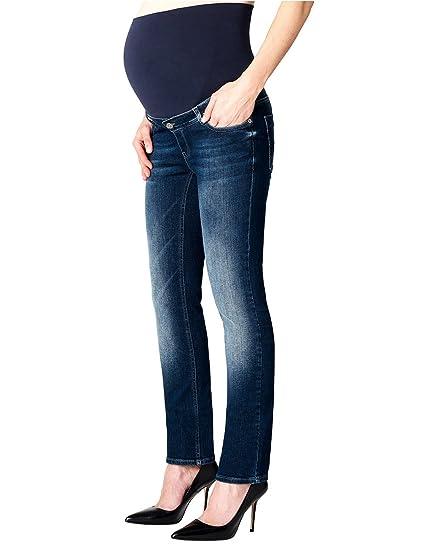 d7afe9a663270 ESPRIT Maternity Women's Pants Denim OTB Straight Maternity Jeans,  Blue-Blau (Darkwash 910