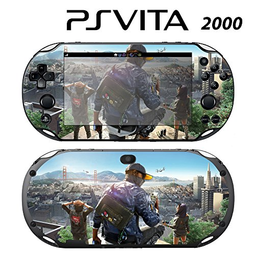 Skin Decal Cover Sticker for Sony PlayStation PS Vita Slim (PCH-2000) - Watch Dogs -  Decals Plus, PV2-GA46