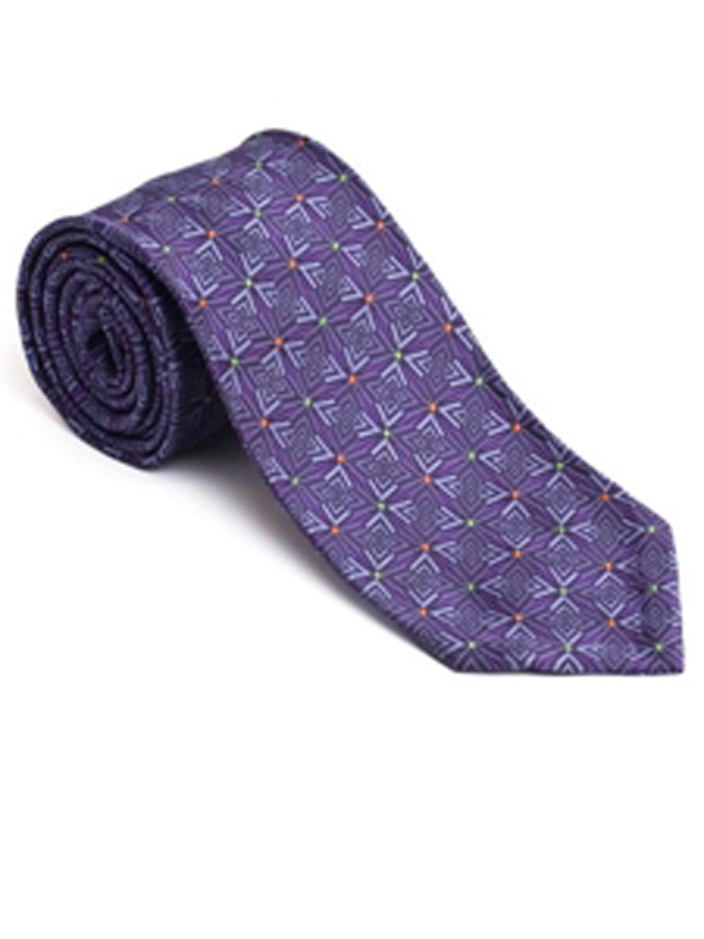 Robert Talbott Purple Pebble Beach Silk Seven Fold Tie