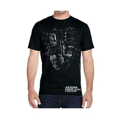 Ricardo Arjona Official Merch Mens T-Shirt GUITARRA EN MANO Camiseta de Hombre Colección Apague