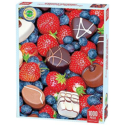 Springbok Puzzles - Chocolate Strawberries - 1000 Piece Jigsaw Puzzle - Large 26.75 Inches by 20.5 Inches Puzzle - Made in USA - Unique Cut Interlocking Pieces: Toys & Games