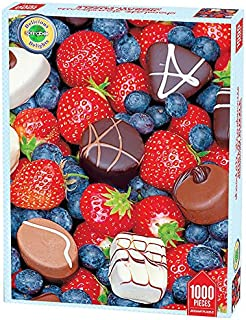 product image for Springbok Puzzles - Chocolate Strawberries - 1000 Piece Jigsaw Puzzle - Large 26.75 Inches by 20.5 Inches Puzzle - Made in USA - Unique Cut Interlocking Pieces