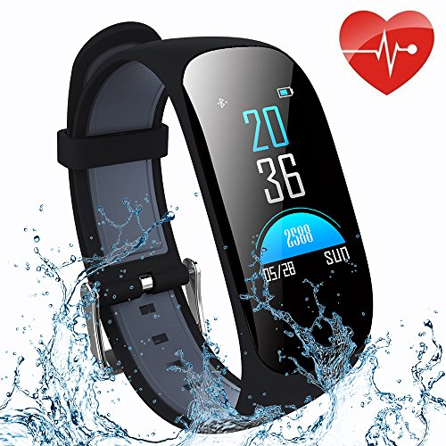 ifmeyasi Fitness Tracker, Wristband Activity Step Tracker with Heart Rate Monitor Watch IP67 Waterproof Smart Wristband with Calorie Counter Watch Pedometer Sleep Monitor for Women Men by ifmeyasi