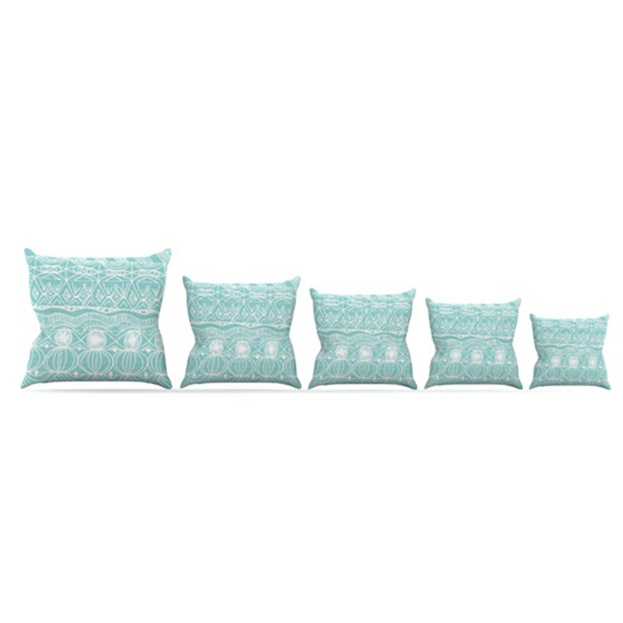 Kess InHouse Catherine Holcombe Beach Blanket Bingo Throw Pillow, 18 by 18-Inch