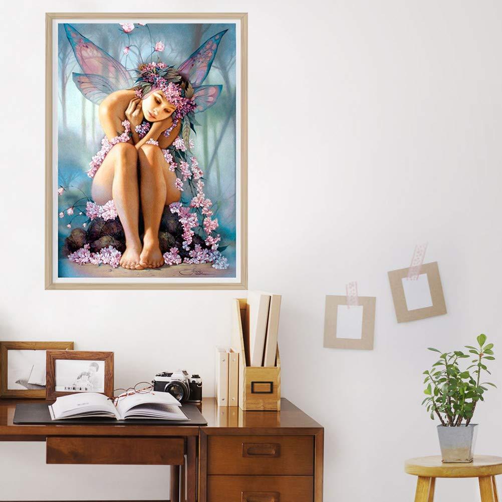 Pintura Diamante Bricolaje Elfo de Belleza Patr/ón de Punto de Cruz Bordado de Diamantes Artesan/ía para Ni/ños Padres